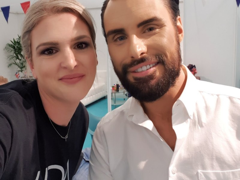 Rylan backstage at This Morning Live